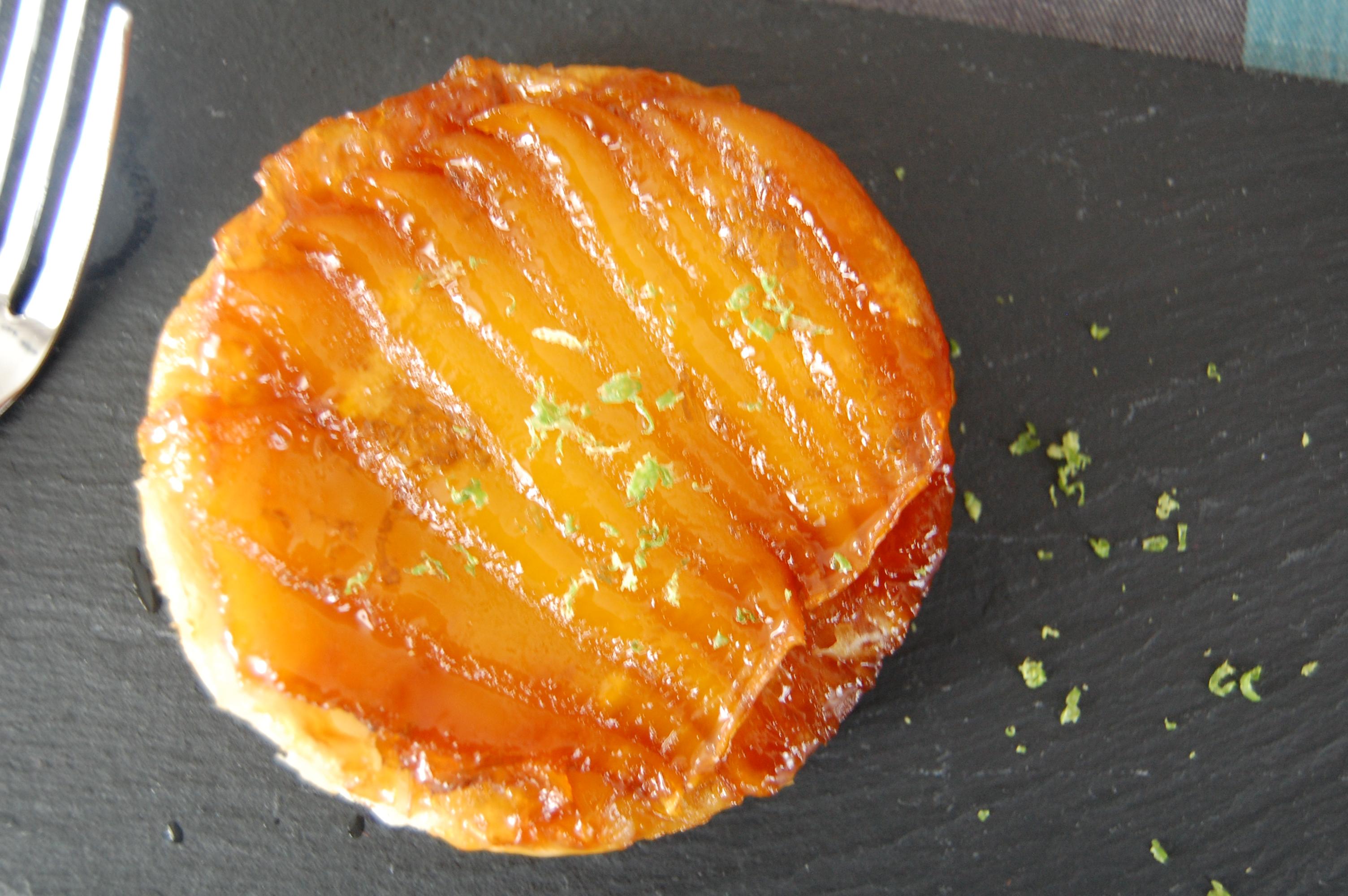 mango s tatin with lime zest tarte tatin a la mangue et citron vert amuse bouche. Black Bedroom Furniture Sets. Home Design Ideas